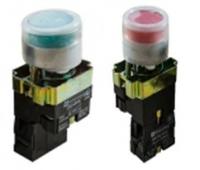 Кнопка включения (зеленая или красная) со световым сигналом. Оригинал.