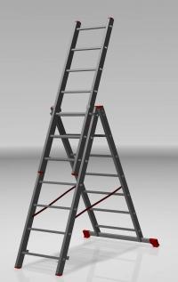 Трехсекционная лестница 3х7