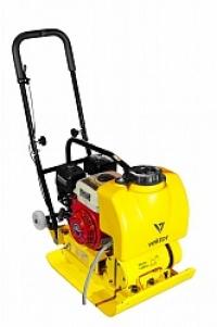 Бензиновая виброплита VPG-90B (двигатель LIFAN) с баком для воды и складными колёсами
